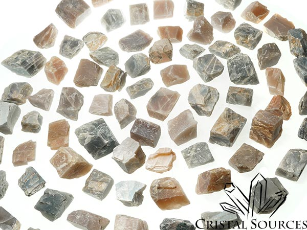 Pierre de lune colorée  (Orthoclase) lot de 10